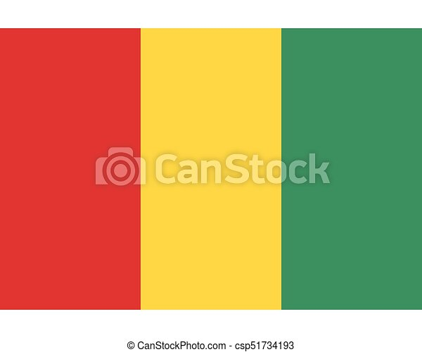 Colored flag of Guinea - csp51734193