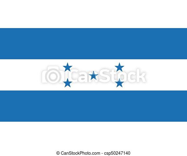 Colored flag of Honduras - csp50247140