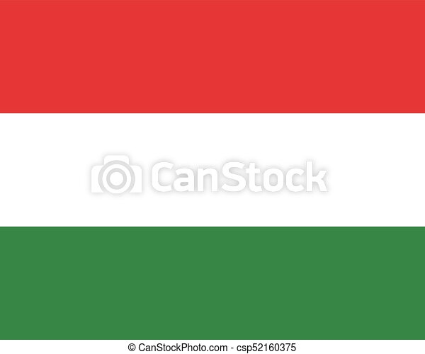 Colored flag of Hungary - csp52160375