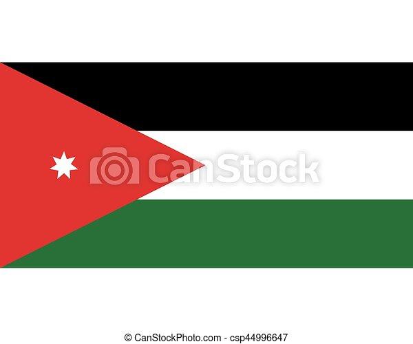 Colored flag of Jordan - csp44996647