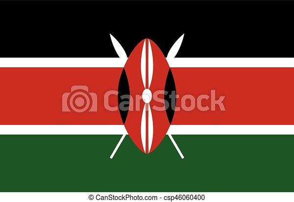 Colored flag of Kenya - csp46060400
