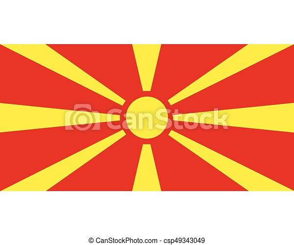 Colored flag of Macedonia - csp49343049