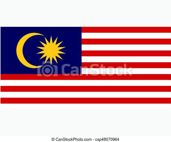 Colored flag of Malaysia - csp48070964