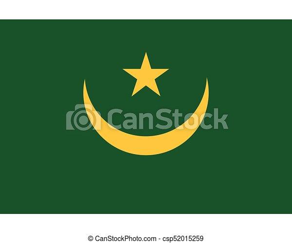 Colored flag of Mauritania - csp52015259