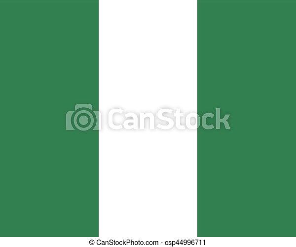 Colored flag of Nigeria - csp44996711