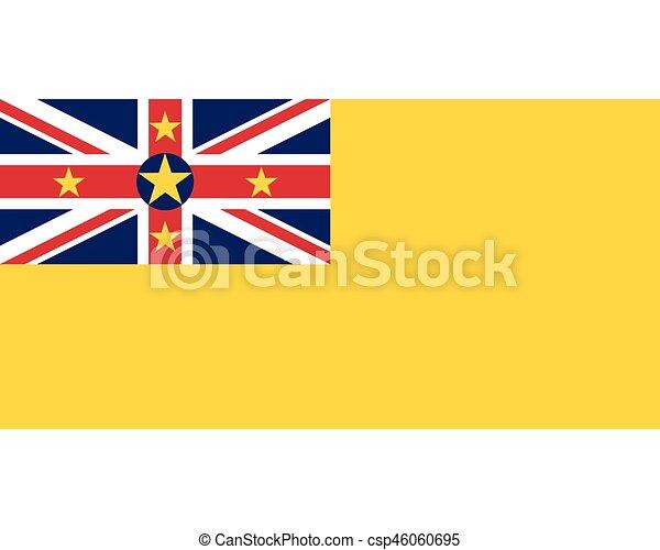Colored flag of Niue - csp46060695