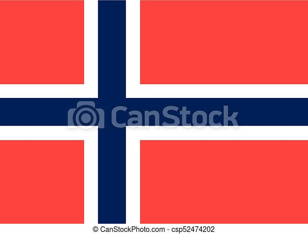 Colored flag of Norway - csp52474202