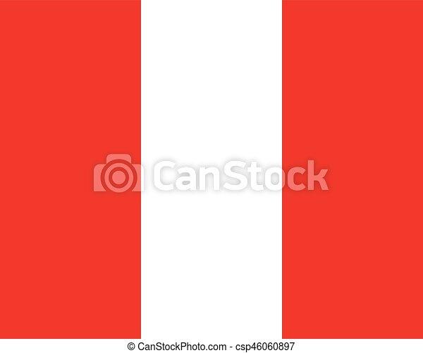 Colored flag of Peru - csp46060897