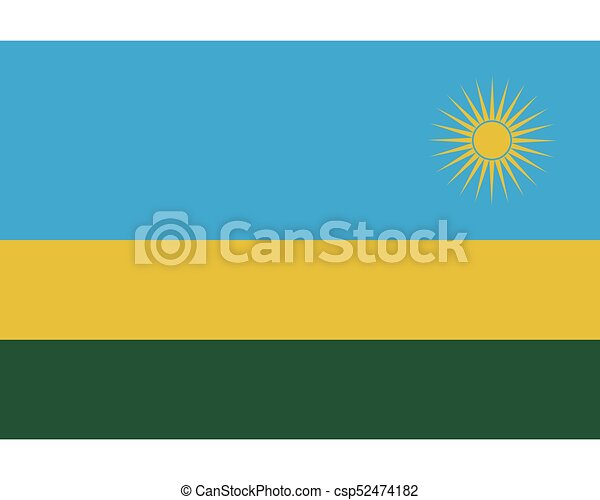 Colored flag of Rwanda - csp52474182