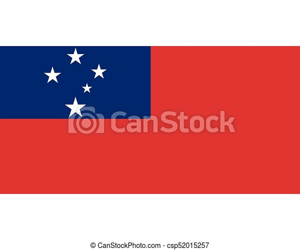 Colored flag of Samoa - csp52015257