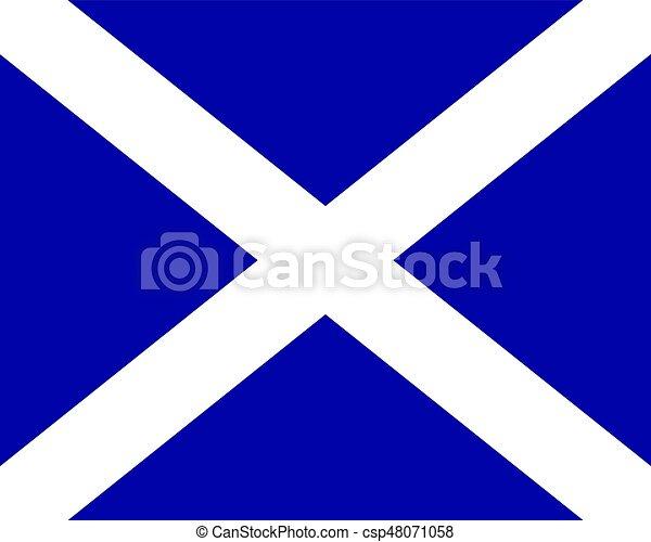 Colored flag of Scotland - csp48071058