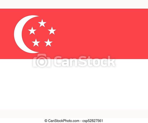 Colored flag of Singapore - csp52827561