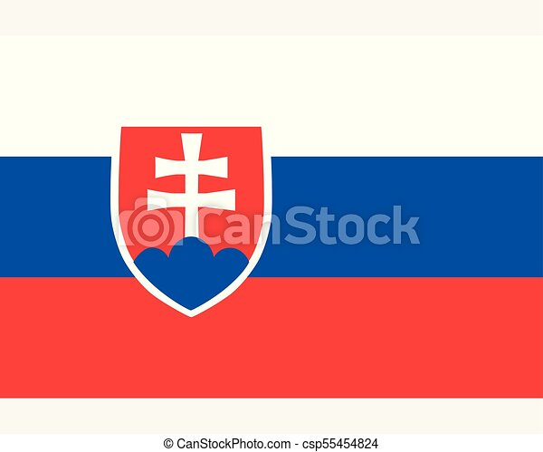 Colored flag of Slovakia - csp55454824