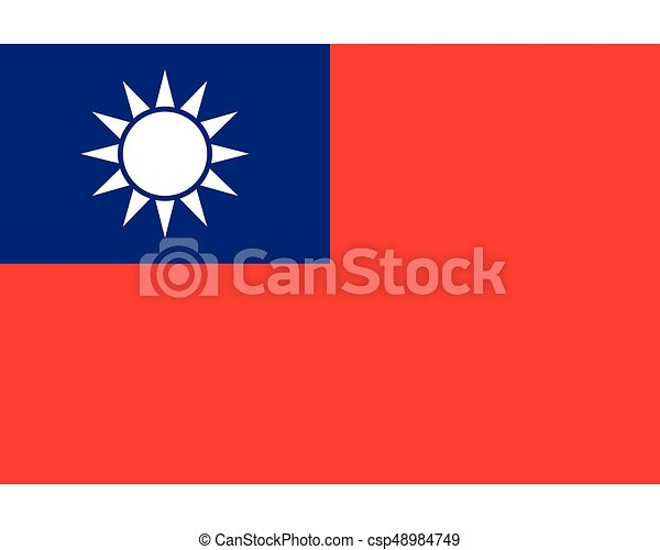Colored flag of Taiwan - csp48984749