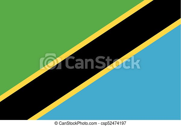 Colored flag of Tanzania - csp52474197