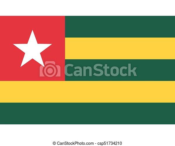 Colored flag of Togo - csp51734210