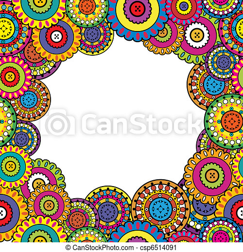 Colored frame with oriental motifs - csp6514091