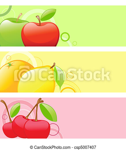 colored fruit backgrounds - csp5007407
