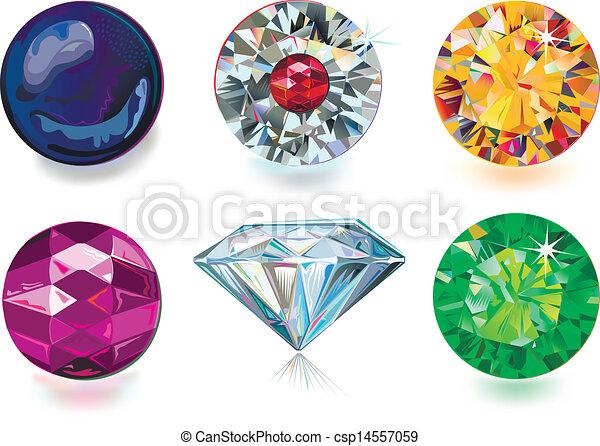 Colored gems - csp14557059