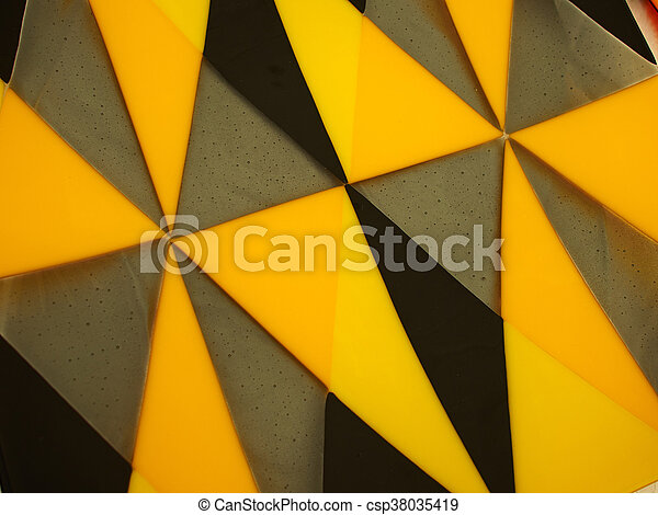 Colored Glass Texture Abstract Background Yellow And Black