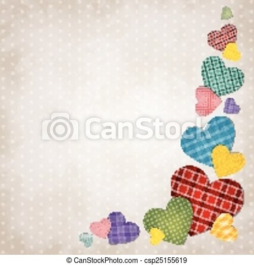 Colored hearts - csp25155619