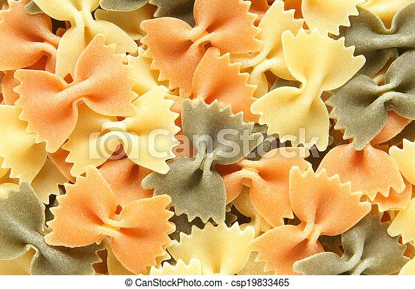 Colored Italian pasta (Farfalle) - csp19833465