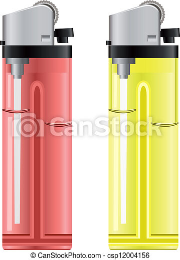 Colored lighters. Vector illustration - csp12004156