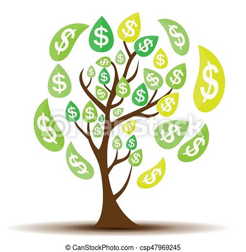 colored money tree dependence of financial growth flat eps rh canstockphoto ca