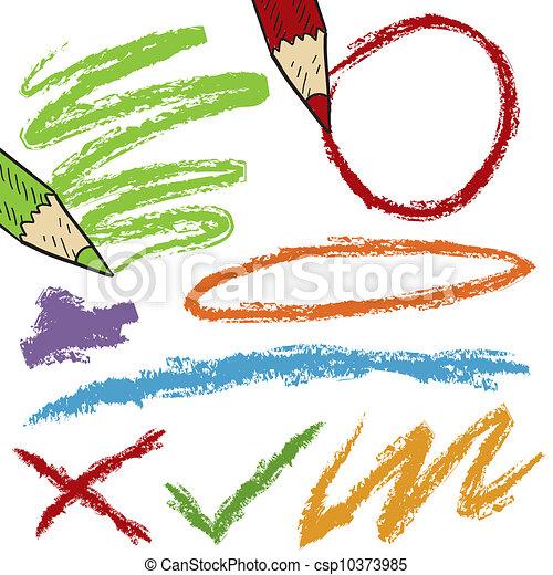 Colored pencil sketches - csp10373985