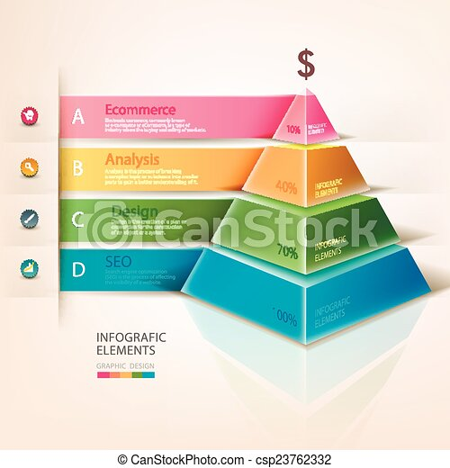 Colored pyramid info graphics - csp23762332