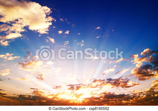 Colored sunrise  - csp8165552