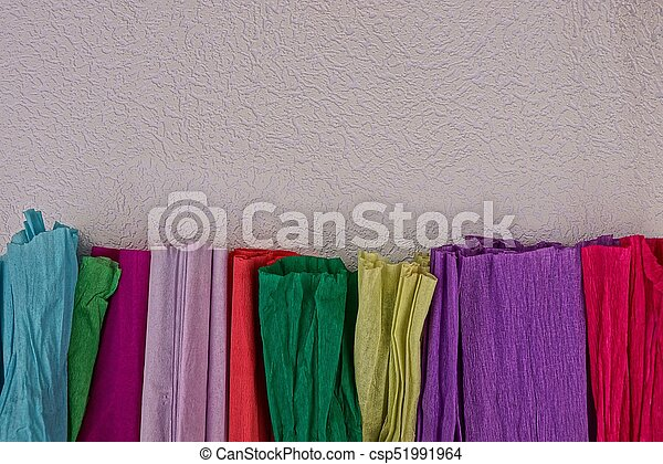 colored texture of multi colored paper crumpled paper of different