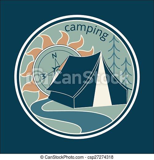 Colored vintage adventure label - csp27274318