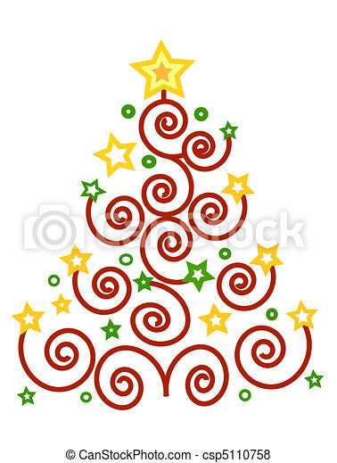elegant colores rbol navidad ilustracin de archivo with dibujos arboles de navidad - Dibujos Arboles De Navidad