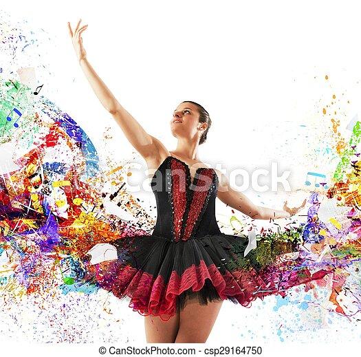 Bailarina clásica de colores - csp29164750