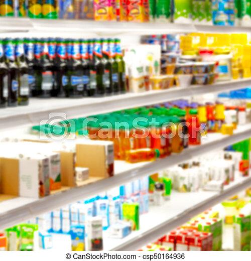 Lleno de colores borrosos en el supermercado - csp50164936