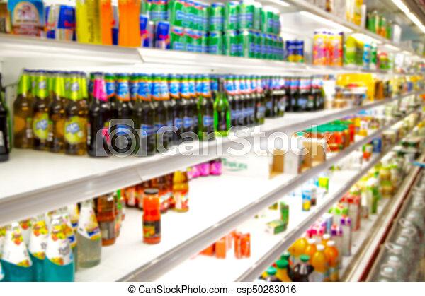 Lleno de colores borrosos en el supermercado - csp50283016