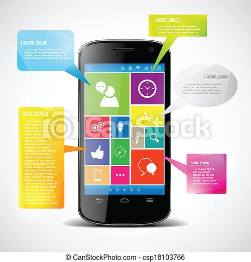 colorfu, touchscreen, smartphone - csp18103766