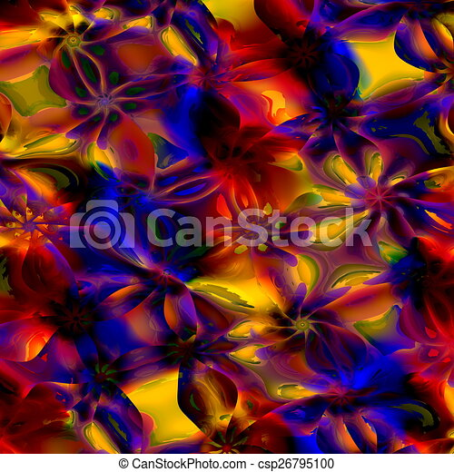 Colorful Abstract Art Background. - csp26795100