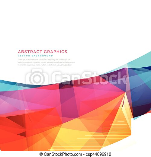 colorful abstract background design - csp44096912
