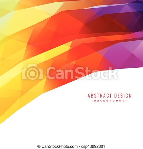 colorful abstract background design - csp43892801