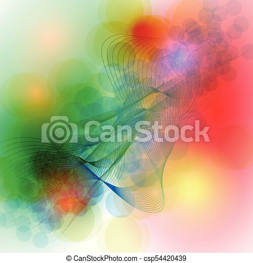 Colorful abstract background vector - csp54420439
