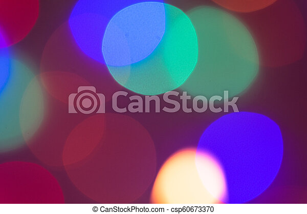 Colorful abstract bokeh light texture pattern background at night. - csp60673370