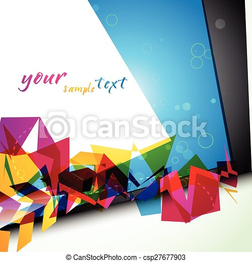 colorful abstract design - csp27677903