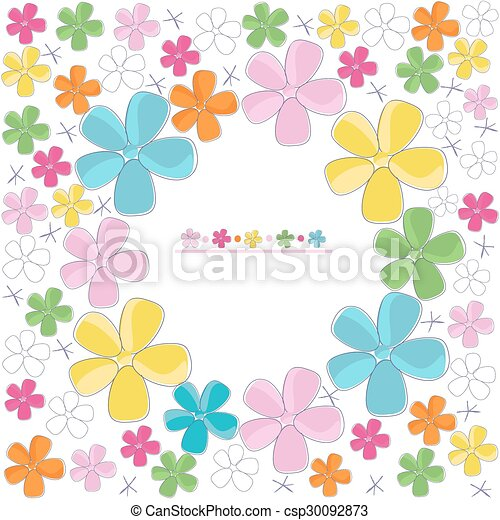 Colorful Abstract Flower Vector Background