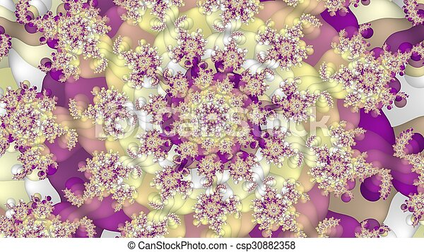 Colorful abstract fractal background - csp30882358