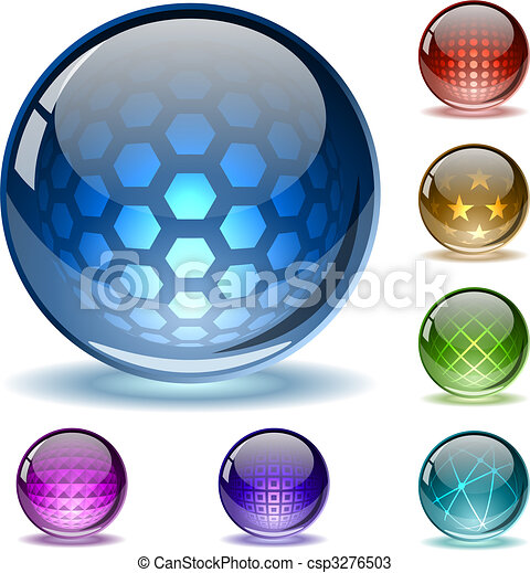 Colorful abstract globes - csp3276503