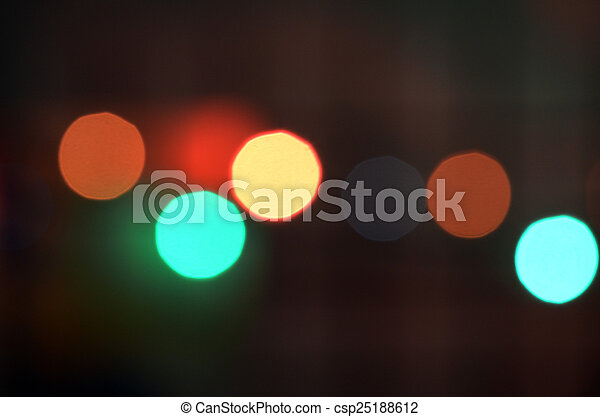 colorful abstract holiday lights - csp25188612