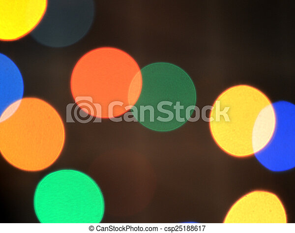 colorful abstract holiday lights - csp25188617