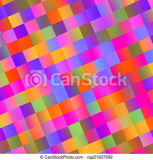 Colorful Abstract Mosaic Background - Tiles - csp21637092
